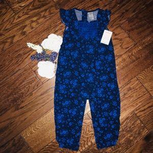 18MO Carters Royal Blue Floral Jumper
